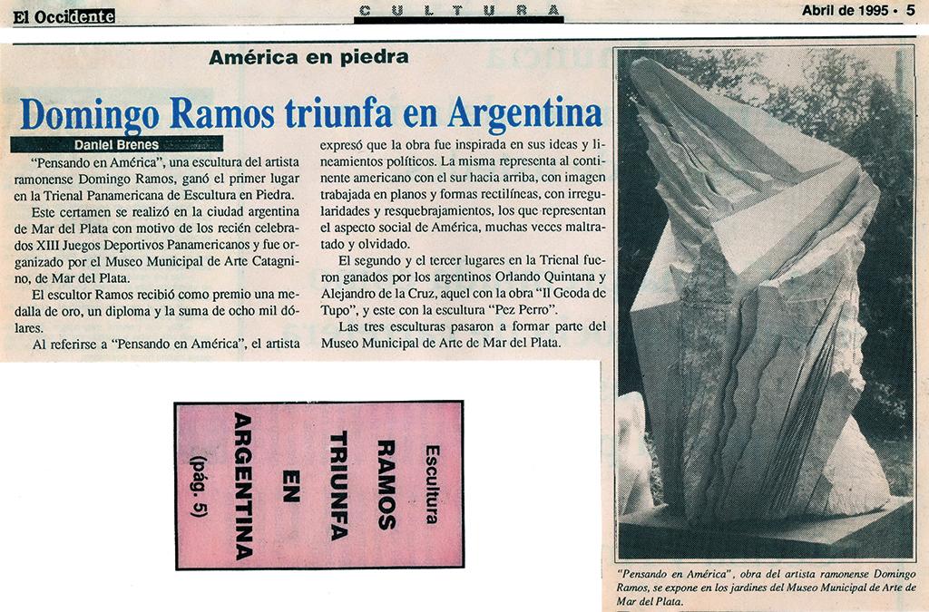 Domingo Ramos triunfa en Argentina