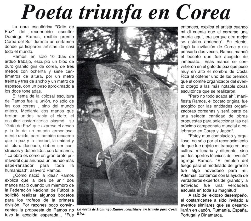 Poeta triunfa en Corea