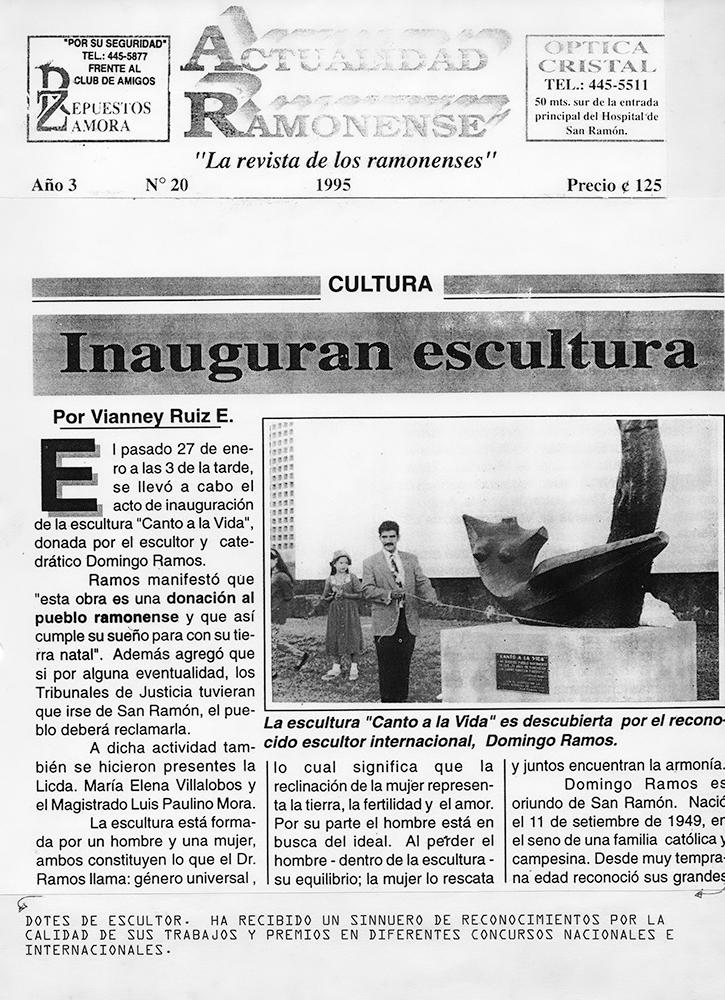 Inauguran escultura
