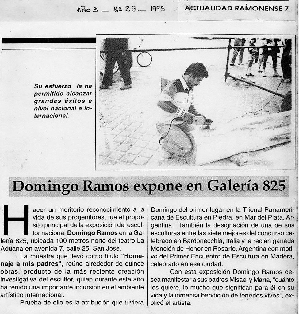 Domingo Ramos expone en la Galería 825