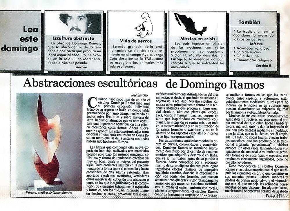 Abstracciones escultóricas de Domingo Ramos