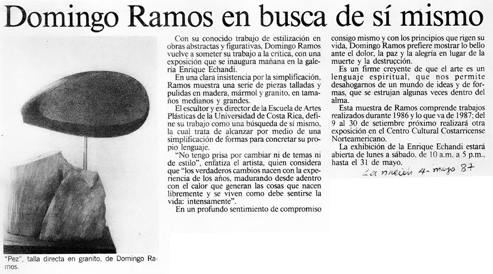 Domingo Ramos en busca de sí mismo