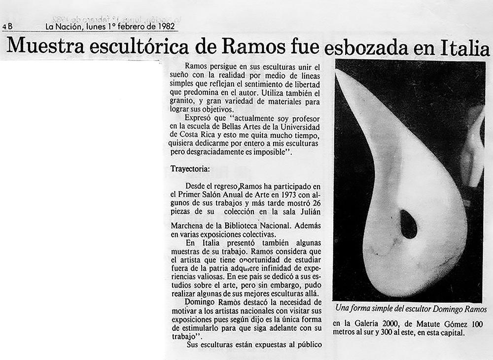 Muestra escultórica fue esbozada en Italia