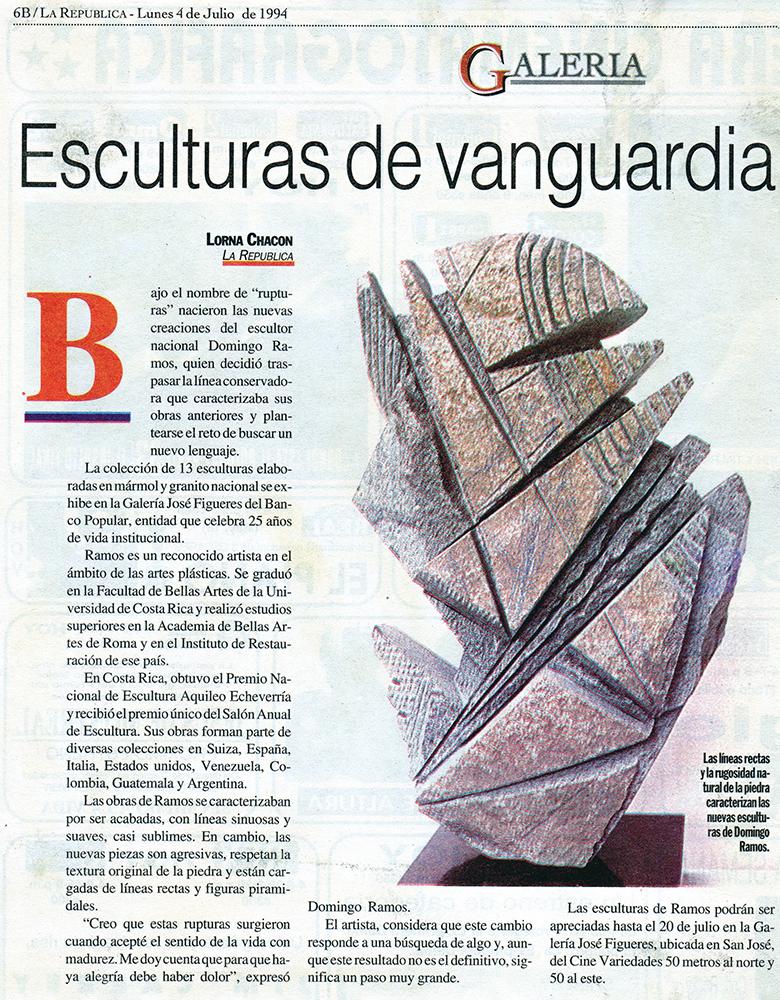 Esculturas de vanguardia