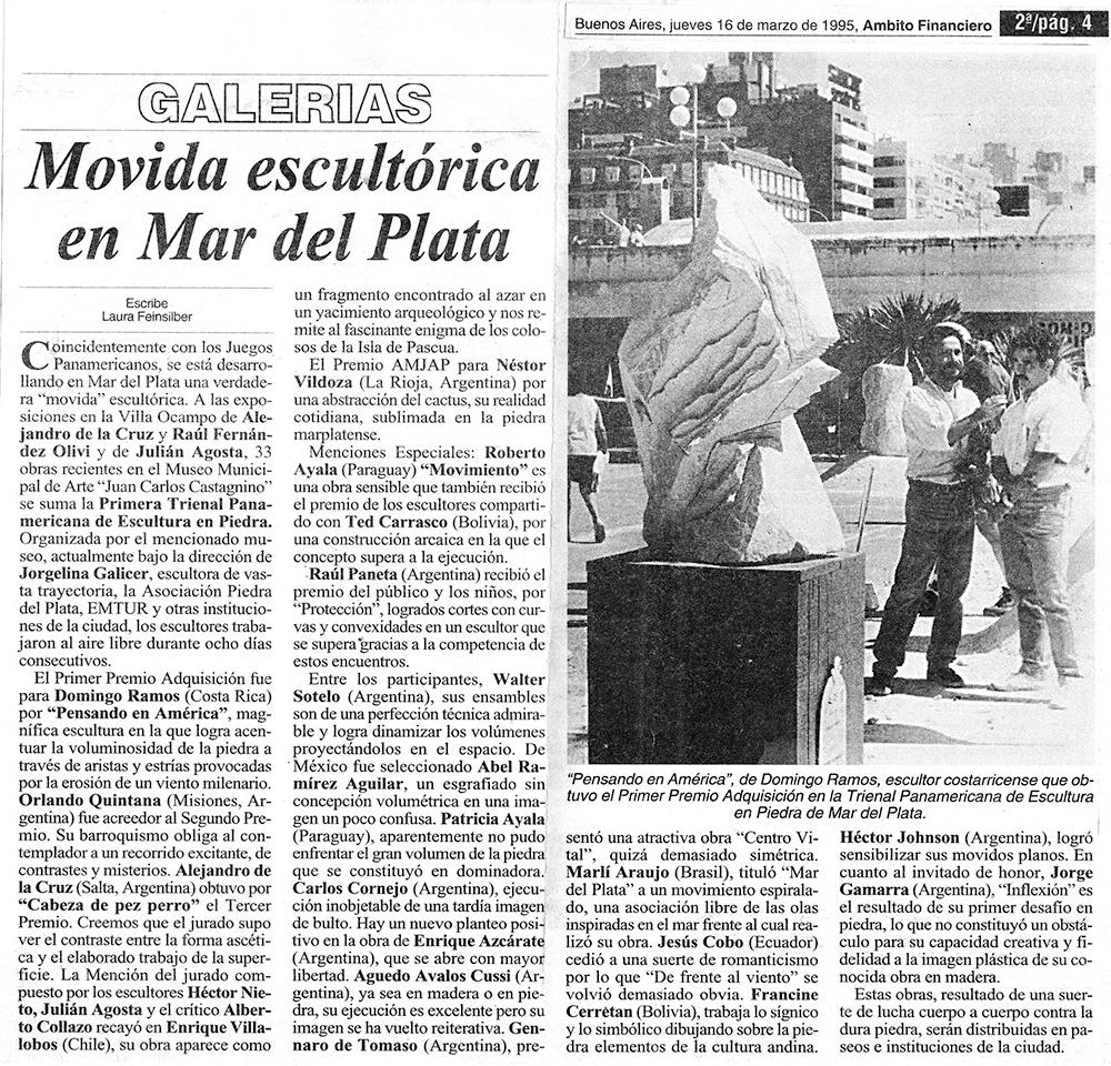 Movida escultórica en Mar del Plata