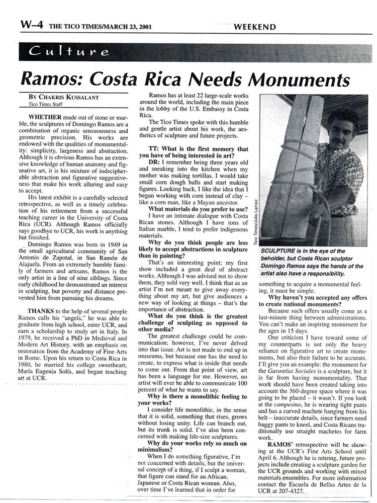 Ramos: Costa Rica Needs Monuments